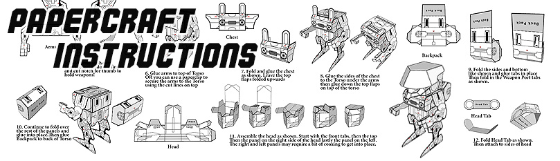 Papercraft Instructions Section