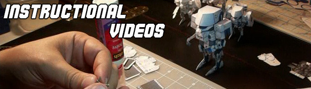 Papercraft Instructional Videos Section